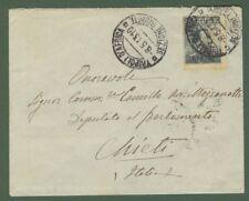 LIBIA. Lettera del 8.5.1913 da Tripoli a Chieti. Affr. con cent. 15 grigio nero
