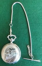 Timex American Railroad Train Hunter Pocket Watch. Working Order