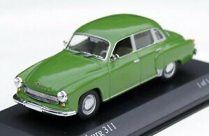 Wartburg 311/312 Limousine Bj. 1959-1967, Green, Minichamps-Modell IN M.1: 43
