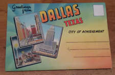 Dallas Texas Street Scenes Buildings Stadium Airport Postcard Folder J71295