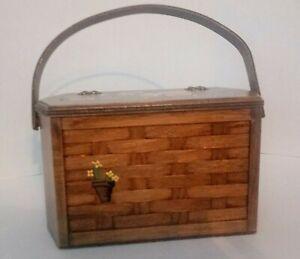 Vintage Caro Nan Basket Purse with flower cart