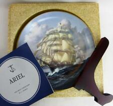 "Great Clipper Ships Ariel Plate Franklin Porcelain 9"" Round in Box Pearce fr"