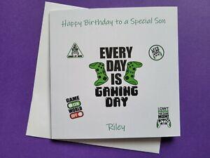 Happy Birthday card, Son, Brother, Nephew, Godson, Grandson, gamer, personalised