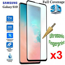 x3 3D Full Coverage 9H Tempered Glass Screen Protector Samsung Galaxy S10 Front