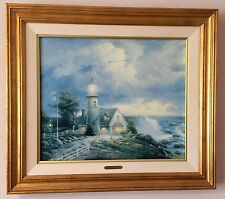 """Thomas Kinkade's """"A Light In The Storm"""" on canvas, S/N #2005/3950"""