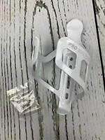 Bike Water Bottle Holder Black or White Gloss Secure Retention System No Lost