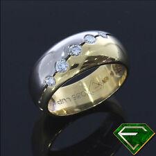 Gut geschliffener Echtschmuck aus Gelbgold mit VVS1 Reinheit Ringe