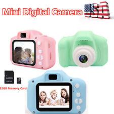 Children 1080P Mini Digital Camera 2.0'' LCD Auto Focus Camcorder Kids Toys N0P2