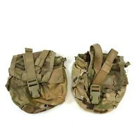 2 Multicam Canteen Pouch, Army MOLLE 1 Quart General Purpose GP, USGI, DEFECT