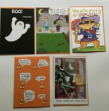 NEW HALLOWEEN LOT OF 5 RECYCLED PAPER GREETINGS CARDS BY PAPYRUS $18.75 VALUE