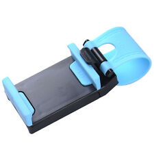 Universal Car Steering Wheel Navigation Phone Clip Holder for iPhone Samsung Blue