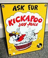 Kickapoo Joy Juice soda pop beverage  Sign