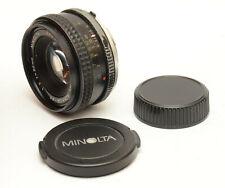 Minolta MC Rokkor-PF 50mm F2 Lens For Minolta MD Mount! Good Condition!