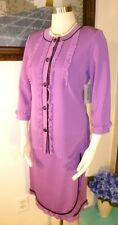 Twinset NWT Exclusive Misook Purple Pink Lace Trim w Black Jacket XS & Skirt S
