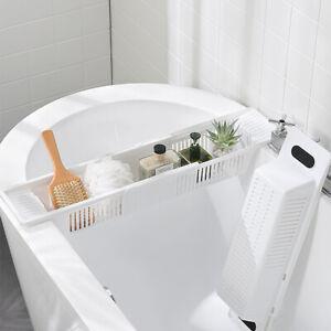 Extendable Bath Tray Plastic Bathtub Shelf Wine Soap Holder Rack brand Organiser