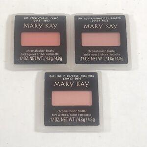 Mary Kay Chromafusion Blush: Lot of 3 - Hot Coral~Shy Blush~Daring Pink - NEW