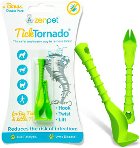 Tick Tornado ZenPet Tick Remover for Dogs & Cats & People Double Pack