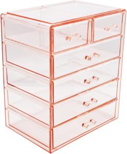 Sorbus Cosmetics Makeup And Jewelry Big Storage Case Display - Stylish Vanity, B