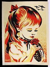 SHEPARD FAIREY signée WAR BY NUMBERS Large Format Sérigraphie obey giant 2019