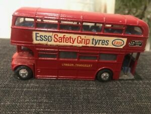 Vintage Esso Safety Grip Tyres Dinky Toys Double Decker Bus