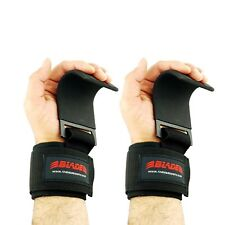 Weight Lifting Best Steel Hooks Straps Wrist Grip Gloves Pull Up Bar Support