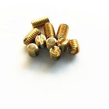 M2 slotted headless screws grubs flat end tighten bolts screw brass bolt 2-10mm
