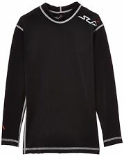 Sub Sports DUAL Boys Compression Baselayer Long Sleeve Top -11-12 Years LY black