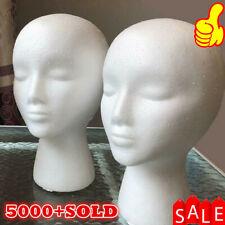 Head Model Wig Hair Glasses Hat Headset Display Styrofoam Foam Mannequin Manikin
