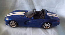 Diecast Collectible Model Car Dodge Viper RT/10  Blue Convertible 1:24 Scale 6+