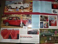 N°4718 / dépliant  HILLMAN  Minx de luxe saloon    1966   english text