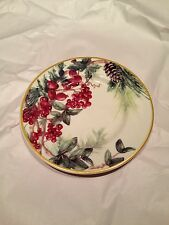 Williams Sonoma Christmas Holiday 2013 Botanical Wreath Salad Plate
