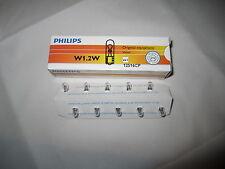 50 x Philips Lamp 12V 1,2W w2x4.6d All Glass Bulb W1, 2W Interior Lighting