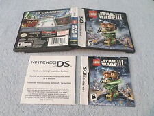 LEGO - STAR WARS III  (Nintendo DS) - REPLACEMENT BOX & INSTRUCTIONS - NO GAME
