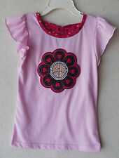 "Fleurish Girl Embellished ""Flower"" Pink Short Sleeve T-Shirt size 2T NWT G82216"