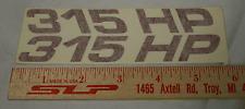 "OEM GM SLP Firehawk ""315 HP"" Hood Decals in Red NEW!"