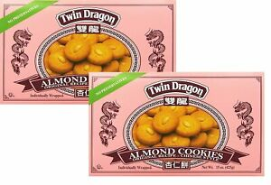 2 PACK PREMIUM TWIN DRAGON ALMOND COOKIES FRESH PACKED 🥮