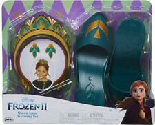 Disney Frozen II Queen Anna Accessory Set 1 Tiara Pair of Earrings 1 Pair Shoes