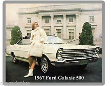 1967 Ford Galaxie 500  Refrigerator / Tool Box  Magnet Gift Card Insert