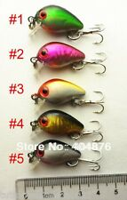A0405 SET 10 ARTIFICIALI SPINNING CRANCKBAIT SPINNING LURES 1,5 GR 3 CM TROUT