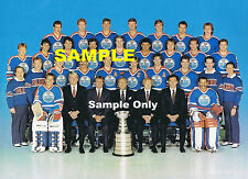 Edmonton Oilers 1986/87 Stanley Cup Team Photo Reprint + FREE 4 x 6 Gretzky