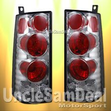 CHEVY EXPRESS GMC SAVANA ALTEZZA EURO CLEAR LENS CHROME TAIL LIGHT PAIR
