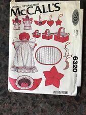 McCALLS Holiday Pattern #6320 Vintage 1978 Christmas Decorations Basket, Angel