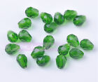 50pcs 7X5mm Crystal Glass Beads Facted Loose Beads Free Shipping Deep Green
