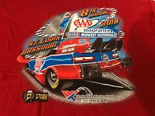 NHRA DRAG RACING 2019 MIDWEST NATIONALS RED T- SHIRT  SIZE XL