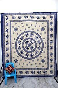 Queen Boho Hippie Cotton Bohemian Mandala Tapestry Wall Hanging Bedspread Throw