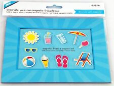 """Decorate your own magnetic photo fridge frame 4""""x6"""". by Shot2go, SKY BLUE"""