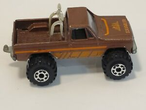 Vintage ROAD CHAMPS Diecast Brown GMC High Roller 4x4 Pick-Up Hong Kong 1982