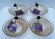 Artistic Accents Medallion GLASS SOUP CEREAL SALAD BOWLS SET OF 4 NEW