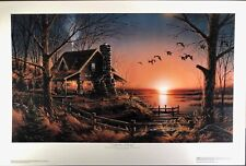 """Terry Redlin """"Comforts of Home"""" RARE original signed limited ed. Lithograph"""