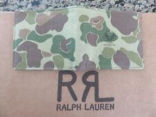 RRL RALPH LAUREN Double RL Billfold Wallet Camo Canvas